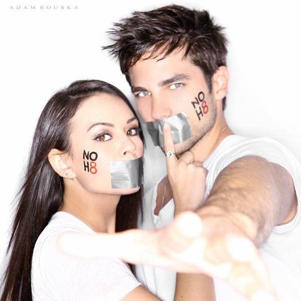 Janel Parrish and Brant Daugherty