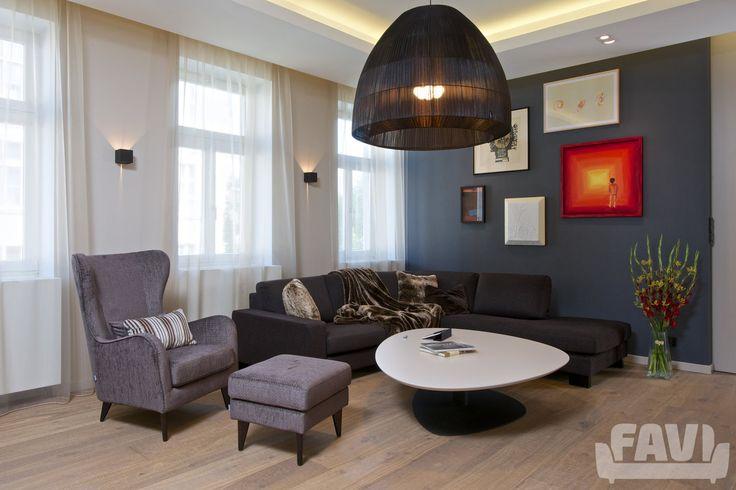 Moderní obývací pokoje inspirace - Byt, Praha 7 | Favi.cz