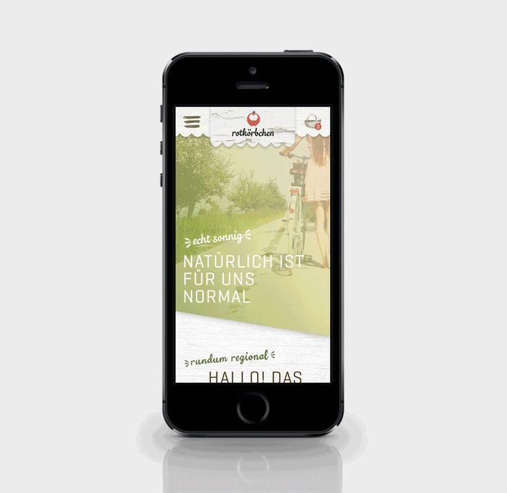 "rotkörbchen – a fictive bio food startup im Fach ""Web Project"""