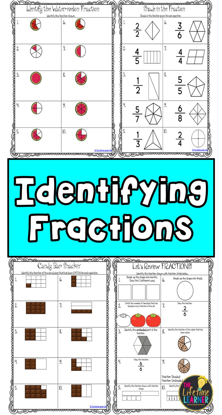 The 51 best Math--Fractions images on Pinterest | Fourth grade ...