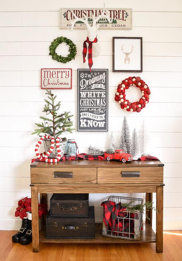 a beautiful and classic christmas entryway and living room featuring rh pinterest com
