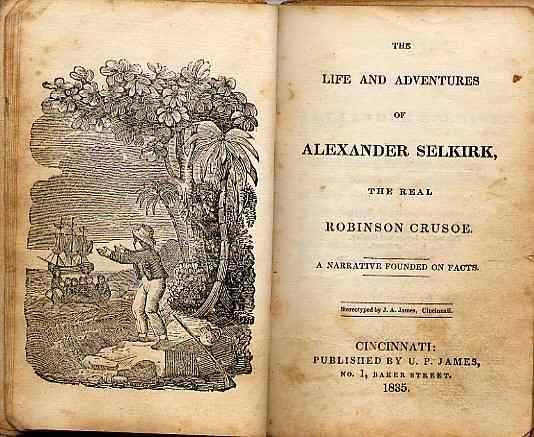 Alexander Selkirk Title Page - Robinson Crusoe -