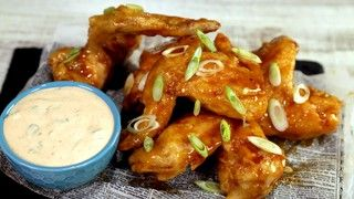 Crispy Ginger Thai Wings Recipe | The Chew - Check out the wing sauce