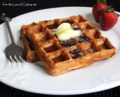Pumpkin Pie Spiced Waffles | Breakfast | Pinterest