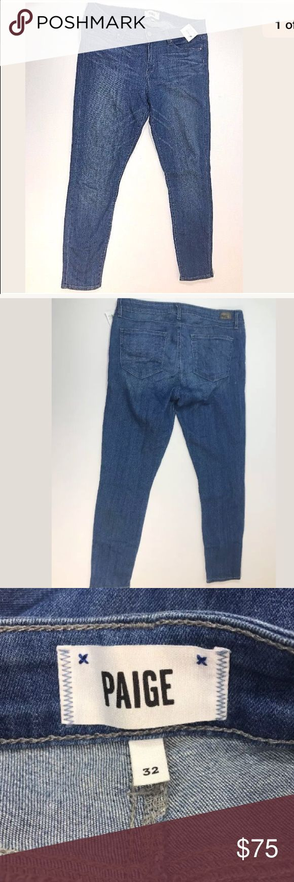 PAIGE jeans verdugo ankle size 32 medium wash PAIGE jeans size 32 verdugo ankle. New.   💯Offers are welcome ❤️ 🚫No trades, Don't ask.  🚫No modeling  🚫no sales off poshmark PAIGE Jeans Skinny