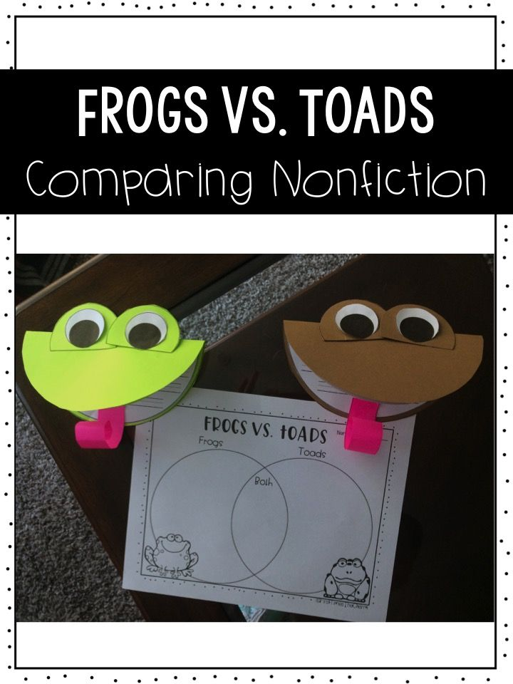 Frog Vs  Toads  Comparing Nonfiction