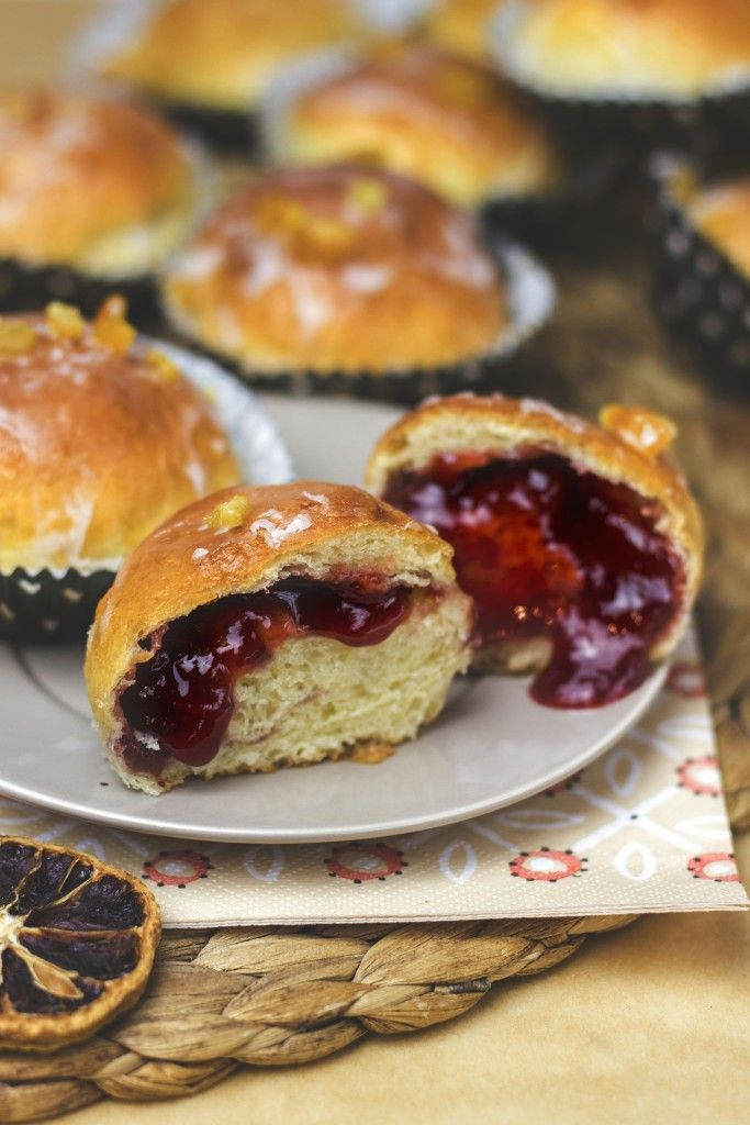 BAKED DONUTS WITH MARMALADE