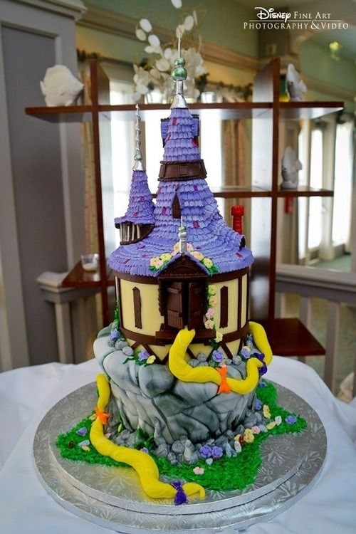 Disney Cakes #tangled #cake