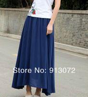 nueva moda bsq153 señoras largo elegante playa faldas clásicas cintura elástica casuales delgado marca diseñador calidad faldas