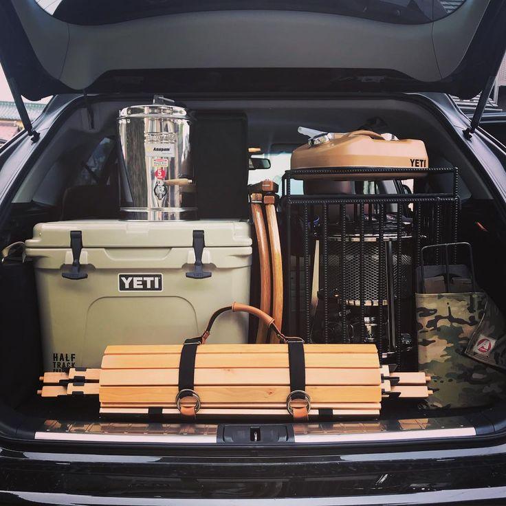 Pin Pa Carpacking キャンプ用品の車載