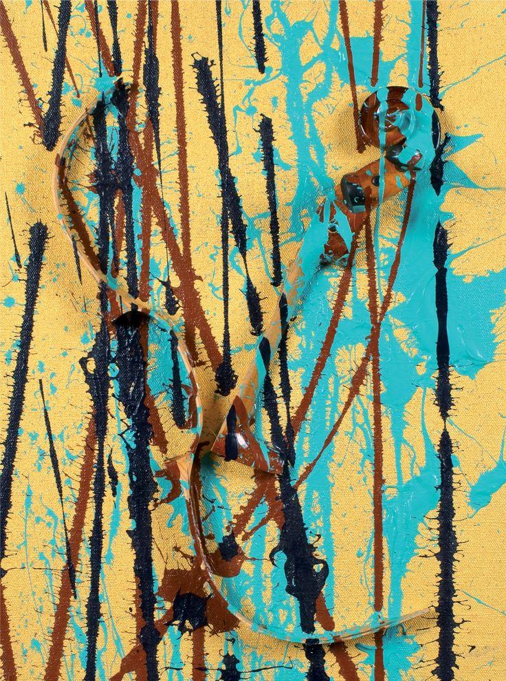"""Fernandez Arman - """"No title"""" 2003 - mixed technique."""