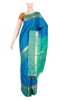 Pure Kanchi Silk With Half Fine Zari