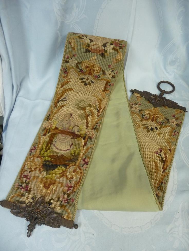Details About Fine Antique Victorian Needlepoint