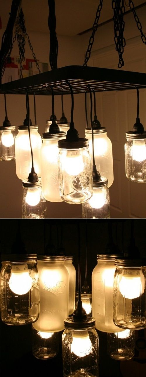 69 Best Images About Mason Jar Hanging Lights On Pinterest