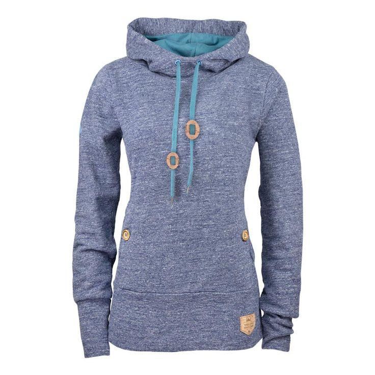 bleed clothing mountain hoody ladies blue vintage melange 741f
