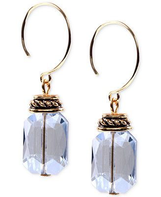 Jones New York Gold-Tone Faceted Bead Drop Earrings