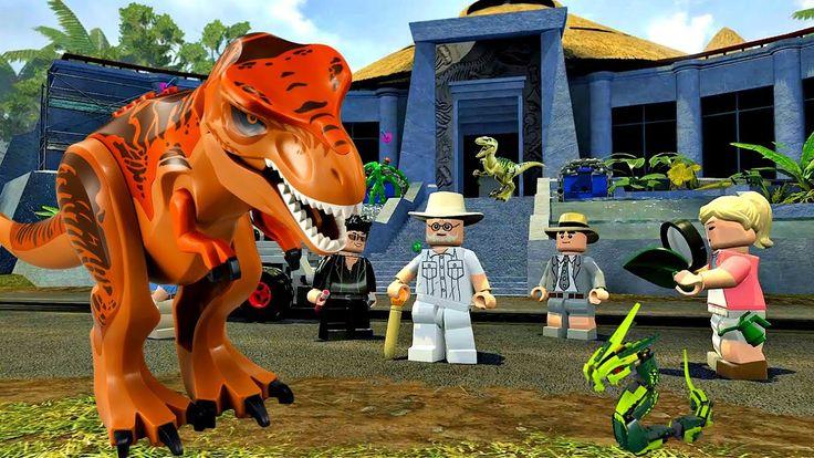 LEGO Jurassic World Прохождение.Съемки Динозавров.Игры мультики Динозавр...