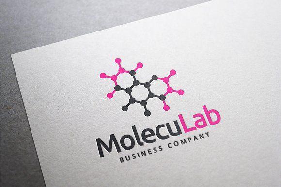 Moleculab Logo by MoccaDesign on @creativemarket