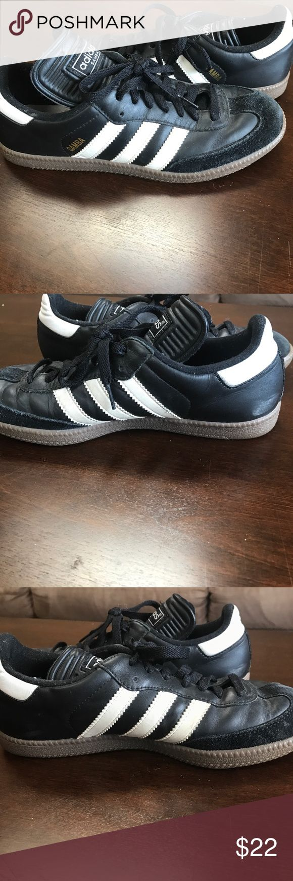 Adidas Samba Signs of use but still in great condition! A few marks shown in the pictures. Suede around toe of shoe. Adidas Shoes Athletic Shoes