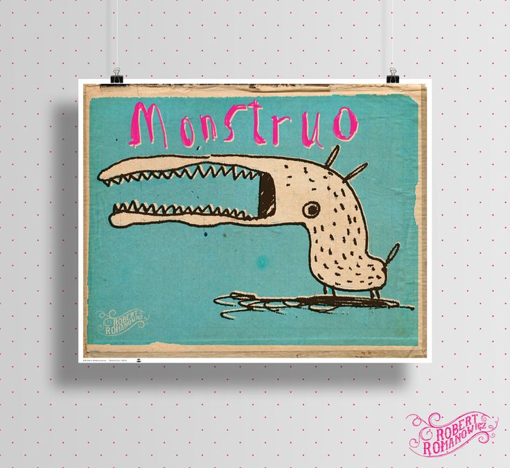Poster for sale *monstruo - illustration* High quality print on semi-gloss paper 200g/m2. Size: 71x57 cm. Signed on the back. contact: romanowiczrobert@yahoo.com http://pantonedesign.blogspot.com/2014/03/dostepne-plakaty.html