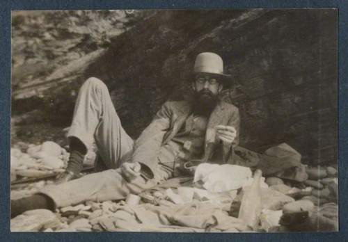 Lytton Strachey, unknown photographer, 1916. (National Portrait Gallery.)