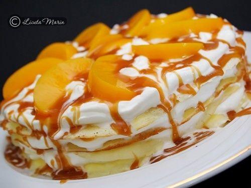 Tort de clatite cu sirop caramel - imagine 1 mare