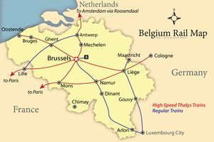 belgium rail map - James Martin