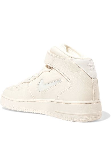 Nike - Nikelab Air Force 1 Textured-leather High-top Sneakers - Off-white - US6.5