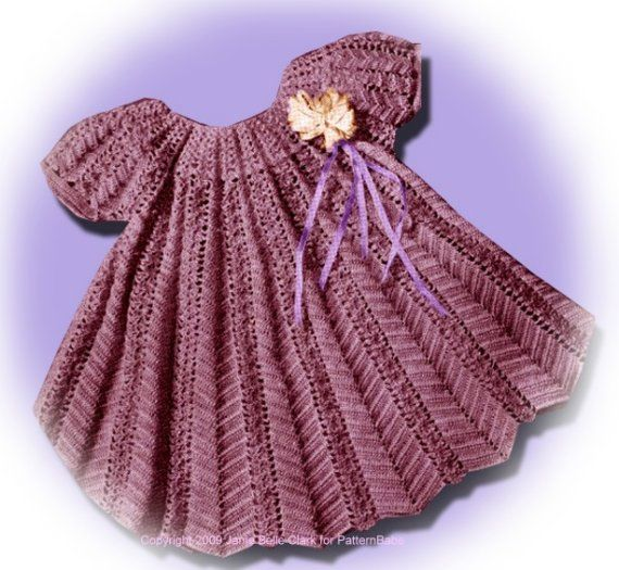 Vintage Crochet Baby Dress Pattern : Toddler Girls Dress Vintage crochet pattern baby toddler ...