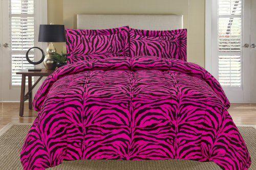 Zebra Pink and Black Down Alternative Comforter Set Full/Queen KingLinen http://www.amazon.com/dp/B008ZHUPPA/ref=cm_sw_r_pi_dp_83Ldvb1MCA6HZ