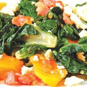 Free silverbeet with bacon, pumpkin and feta recipe. Try this free, quick and easy silverbeet with bacon, pumpkin and feta recipe from countdown.co.nz.