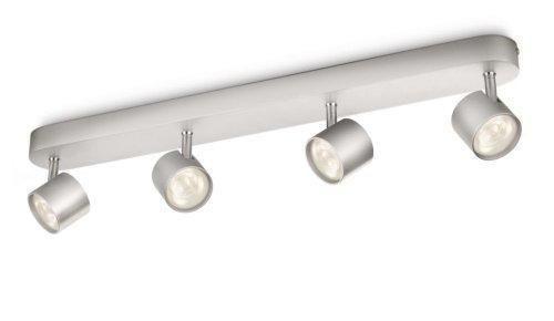 Oferta: 50.27€ Dto: -44%. Comprar Ofertas de Philips myLiving Star - Barra de focos, LED, 4 luces, aluminio, luz blanca cálida, 3 W, color gris barato. ¡Mira las ofertas!