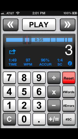 Running Records Calculator app