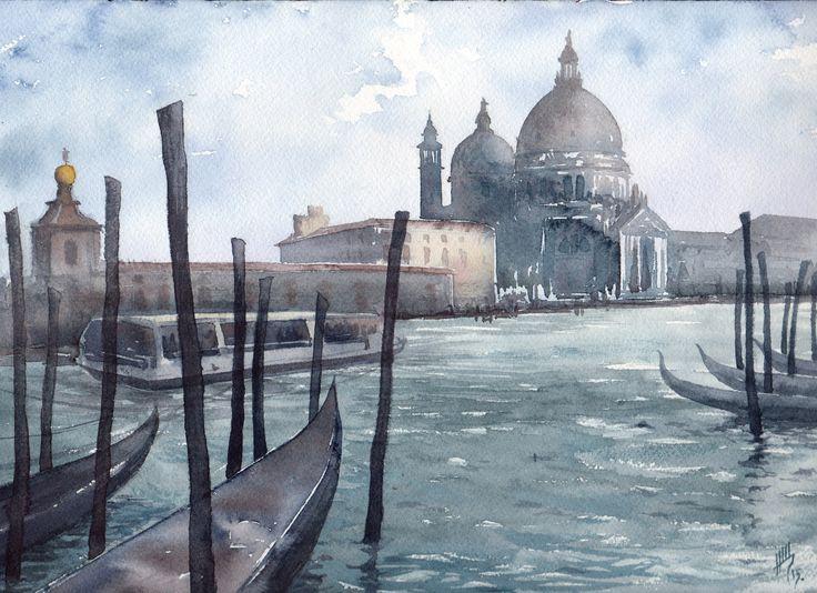 Shchepetnova Natalia. Venice. Grand canal.
