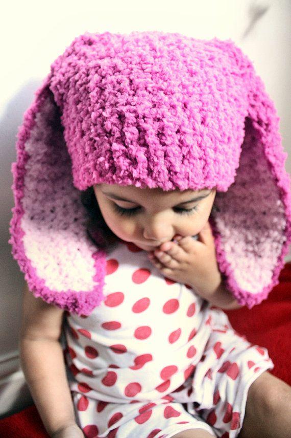 6 to 12m Raspberry Pink Baby Hat, Animal Beanie Bunny Hat, Bunny Beanie, Baby Girl Hat, Dark Pink Baby Pink Bunny Photo Prop Baby and childrens gift ideas. #baby #children #kids #kidsfashion #babyboy #babygirl #easter #bunny #bunnyhat #babyhat #hat #babamoon #etsy #photoprop #bunnycostume #halloweencostume