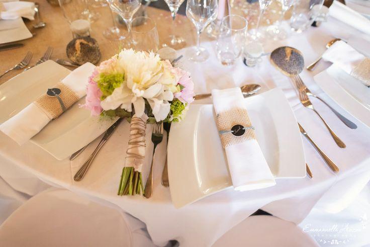 Rond de serviette, bouquet de la mariée  MARIAGE DECO (CHAMPETRE ...