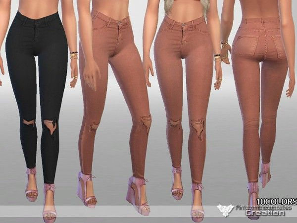The Sims Resource: Fall Denim Jeans by Pinkzombiecupcakes • Sims 4 Downloads