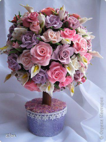 Цветочки холодный фарфор