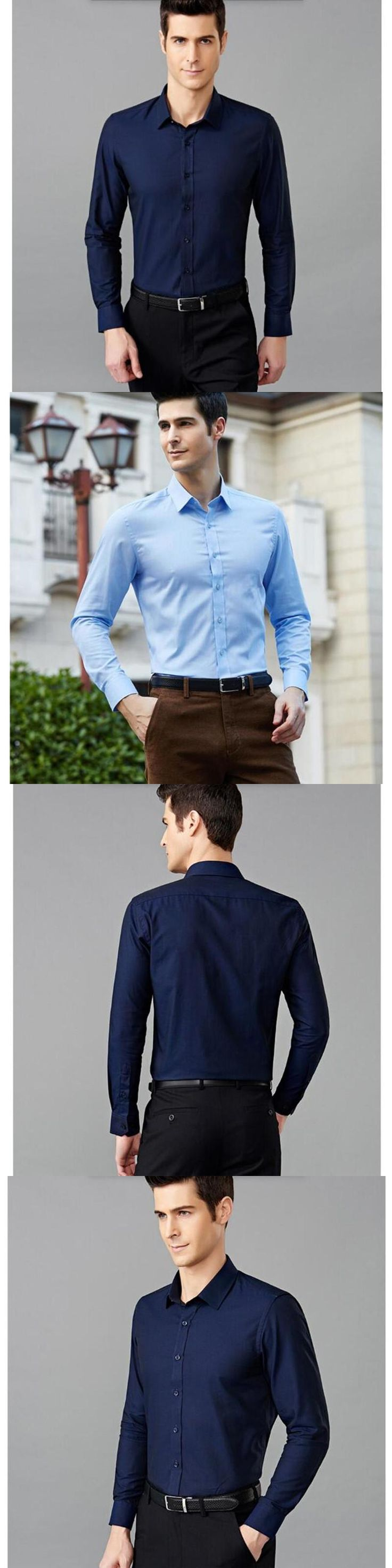 normal size Men Shirts Cheap Long Sleeve Casual Shirts custom make Luxury Quality China make Solid Color Men Clothes