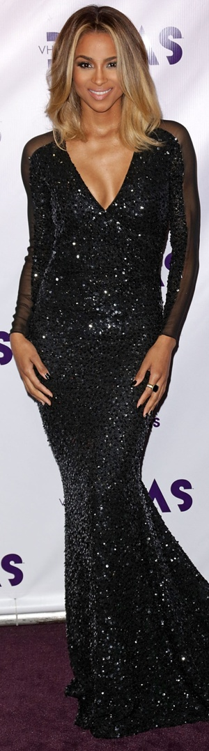 Ciara - love her dress, but her hair color is gorgeous!!!