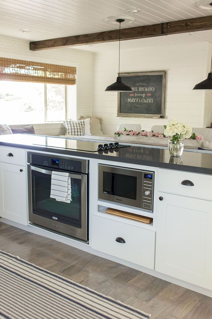 25 best ideas about microwave cabinet on pinterest for Beautiful built in kitchens