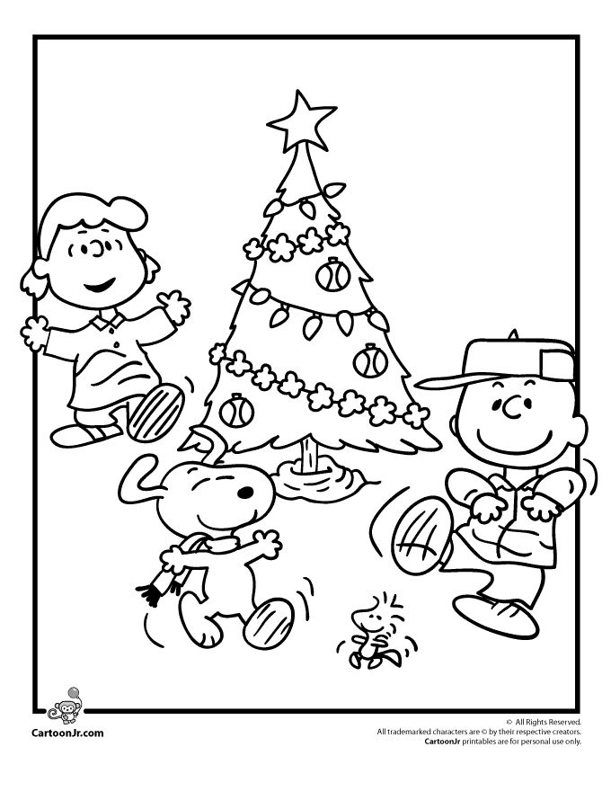 A Charlie Brown Christmas Coloring Pages Peanuts Gang Christmas Coloring Page – Cartoon Jr.