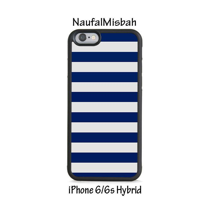 Blue Navy Stripes iPhone 6/6s HYBRID Case Cover