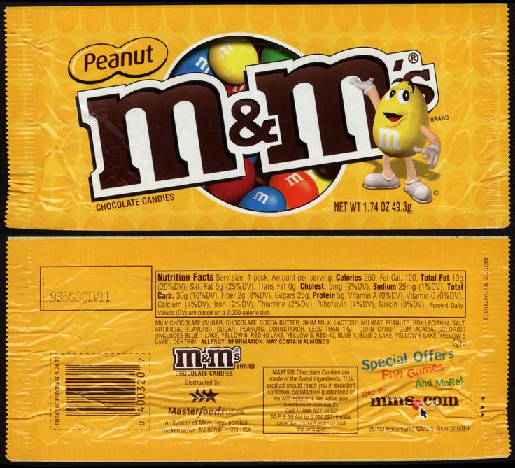 M Amp M Mars M Amp M S Peanut Candy Package 2011 Projects To
