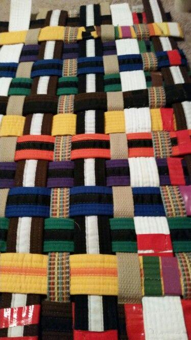 Karate belt rug 4x3