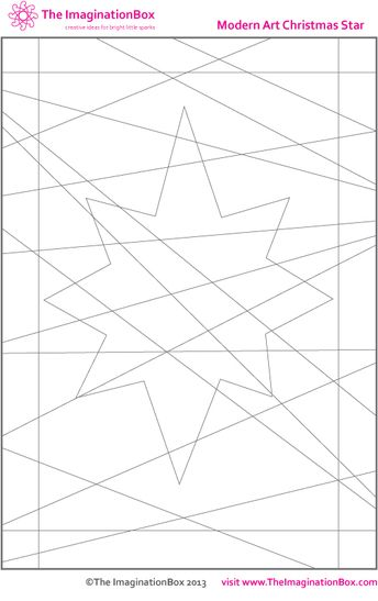 The Imagination Box, Modern Art Christmas Star free download colouring activity