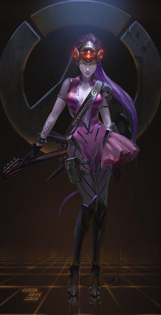 Artstation Widowmaker Fanart Overwatch Knight Zhang T