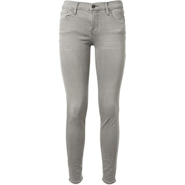 I really like the idea of light gray skinny jeans to help lighten up an outfit.