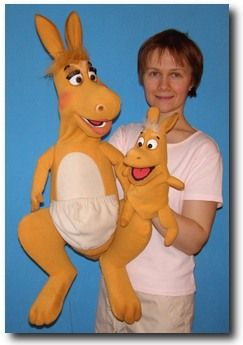 kangaroo puppet template - kangaroo puppet puppet for sale artesanato pinterest