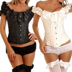 size 12 / 36 new black ruffle corset with sleeves stunning sexy :) for R299.95